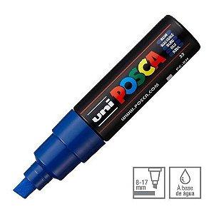 Caneta Chisel Shaped Posca 8k Azul - Uni
