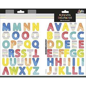 Adesivo Decorado Duplo Alfabeto - Tilibra