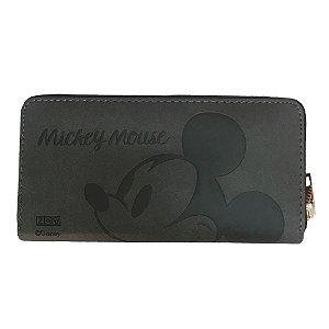 Carteira 19x9cm C/relevo Mickey Mouse Rosto - Zona