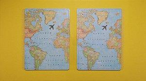 Capa E Contracapa Grande Mapa Mundi - Caderno Inte