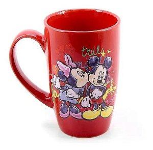 Caneca Esmalte Mickey E Minnie Vermelha - Mileno