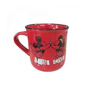 Caneca Minnie Vermelha Beijando - Mileno