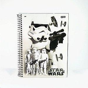 Caderno Esp Univ Cd 01m 96f Star Wars - Jandaia