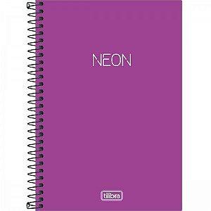 Caderno Esp Cp 1/4 80f S/p Neon Violeta - Tilibra