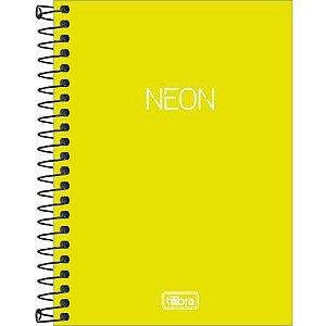 Caderneta Esp Cp 1/8 80f Neon Amarelo - Tilibra