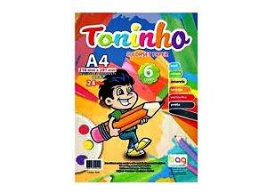 Papel A4 80g 24f Colorset Toninho 6 Cores - Bahia