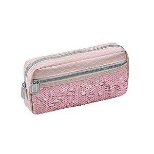 Estojo Simples G C/bolso Blush Rosa - Foroni