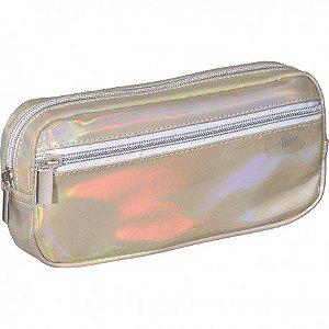 Estojo Simples C/bolso Shine Dourado - Foroni