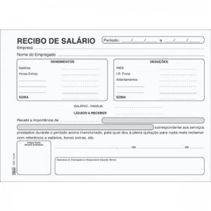 Bloco Recibo 100f Salario - Bahia