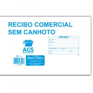 Bloco Recibo 50f S/canhoto Pequeno - Bahia