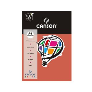 Papel A4 180g 10f Color Coral - Canson