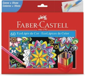 Ecolapis Cor C/60 Cores Lvm - Faber Castell