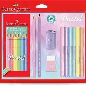 Kit Escolar Tons Pastel - Faber