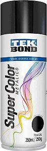 Tinta Spray 350ml Supercolor Preta Metal - Tekbond