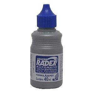 Tinta P/carimbo E Automatic 40ml Azul - Radex
