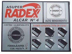 Almofada P/carimbo Alcar N°4 Preto - Radex