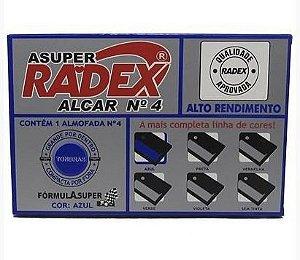 Almofada P/carimbo Alcar N°4 Azul - Radex