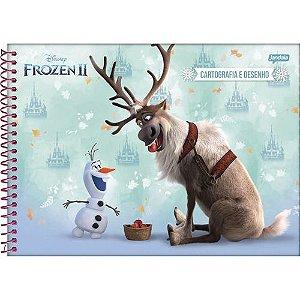 Caderno Esp Cartografia Cd 80f Frozen - Jandaia