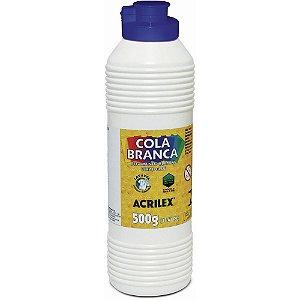 Cola branca 500g lavável Acrilex Ref.02850