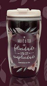 COPO PLASTICO 300ML COM TAMPA SORTIDO