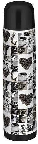 Garrafa Térmica Aço Inox Estampa de Café 1 Litro