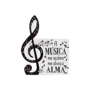 PLACA DE MESA MUSICA 15X12