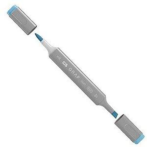Caneta Cis Graf Duo Brush Indian Blue 64