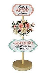 Enfeite de Mesa - Que o amor floresça ... rosas,