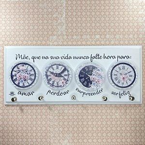 Porta-Chave Mãe Que Na Sua Vida Nunca Falte… 15X35