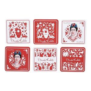 Porta Copos Em Cortiça Frida Kahlo