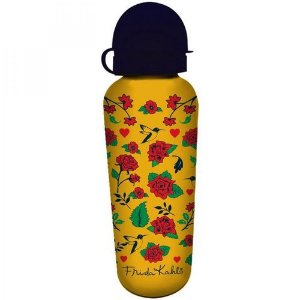 Squeeze de Alumínio Frida Kahlo Skulls And Flowers 500ml Urban Amarelo