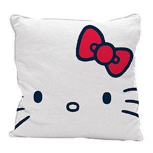 Capa Para Almofada 45cm De Poliéster Classical Face Hello Kitty