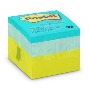 POST-IT CUBO VERDE 47,6X47,6MM C/400 FLS 3M