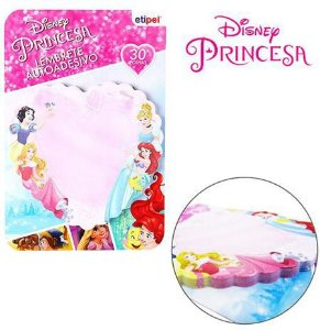 Bloco Autoadesivo Sticker Para Recado Coracao Com 30 Folhas Princesas 7,5X7Cm - Etipel