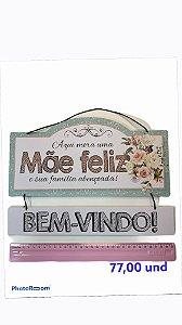 MOBILE DE PAREDE - MÃE FELIZ..