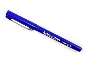 Caneta Ponta Sintetica Shachihata Artline 200 0.4 Mm Azul