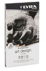 Estojo Lápis Graduado Art Design Lyra Com 12 Graduações
