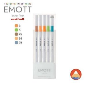 Caneta Uniball Emott 0.4mm C/05 Cores