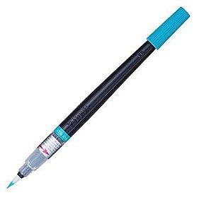 Caneta Pincel Aquarela Color Brush Pentel Azul Celeste, Pentel,Azul Céu