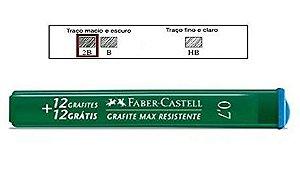 Grafite 0.7mm 2b Tubo Com 12 Minas - Faber Castell