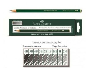 Lapis Grafite Faber 9000 4B