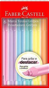 Caneta Marca Texto - Grifpen - 6 Cores - Tons Pastéis - Faber-Castell