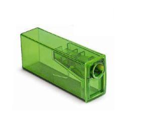 Apontador C/Coletor Faber Retangular Neon