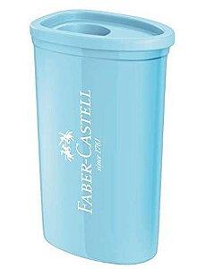 Apontador Faber Castell Triangular c/Deposito Azul