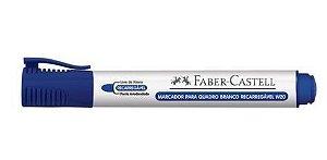 Marcador Q. Branco Recarregável Azul Faber Castell