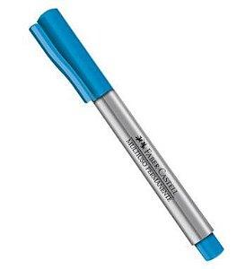 Marcador Multiuso Faber-Castell Ponta Média Media - Azul Claro - sem blister