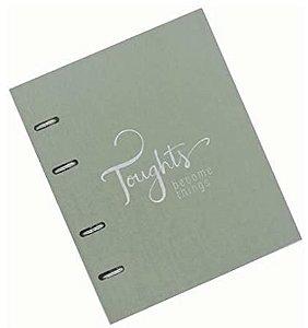 Caderno Fichário Cotton Verde 190 folhas Ótima