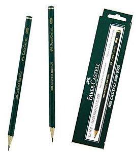 Lapis Preto Tecnico 9000 4b Preto Esc/Muito Macio - Caixa com 12 Faber Castell, Multicor