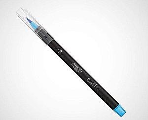 Caneta Hidrocor Brush Pen Azul Brw