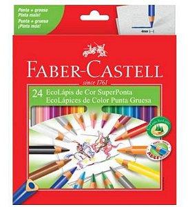 Lápis de Cor Super Ponta Faber Castell 24 Cores